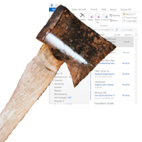 Hatchet chopping inbox