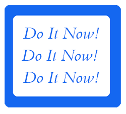Do it now! poster