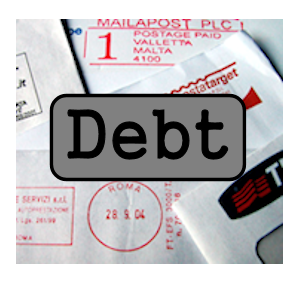 pile of debts