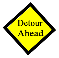 Sign: Detour Ahead