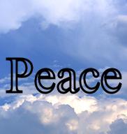 Peace written in clouds