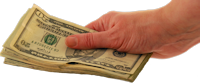 Money in hand - header image