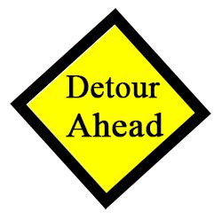 Sign: Detour Ahead