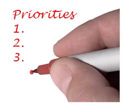 Handwriting priorities